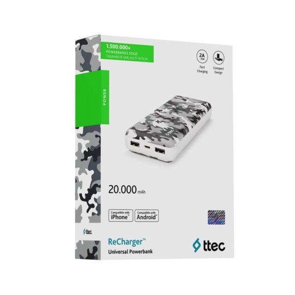 аккумулятор universal recharger 20000 mah b.camuflage 4