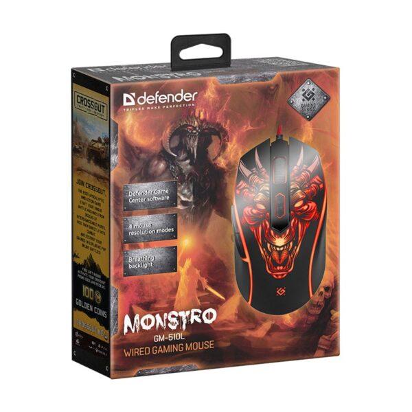 игровая мышь defender monstro gm-510l 6