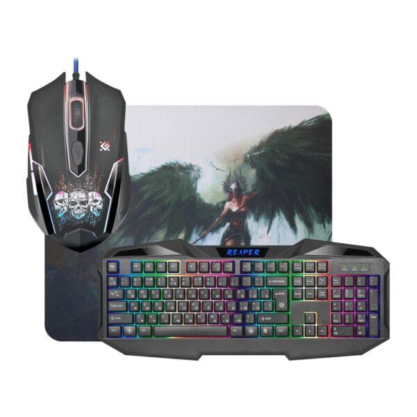 комплект клавиатура и мышь defender reaper mkp-018 1