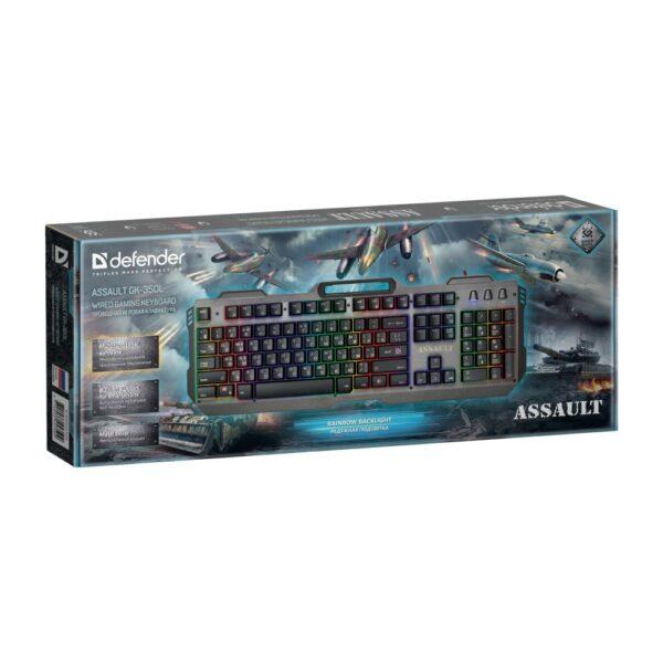игровая клавиатура defender assault gk-350l 2