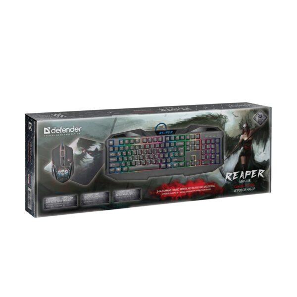 комплект клавиатура и мышь defender reaper mkp-018 5