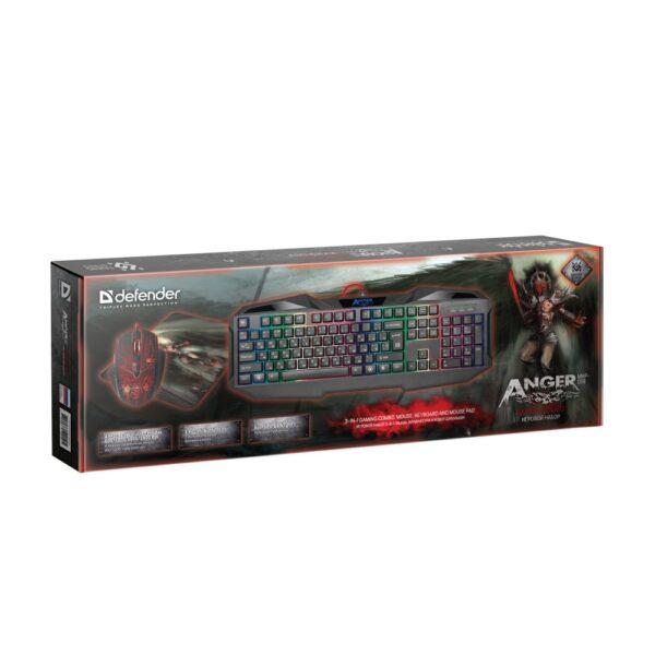 комплект клавиатура и мышь defender anger mkp-019 5