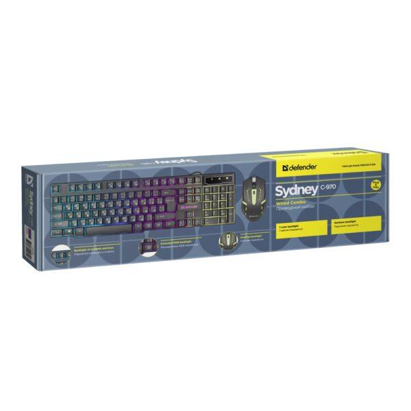 набор клавиатура и мышь defender sydney c-970 1