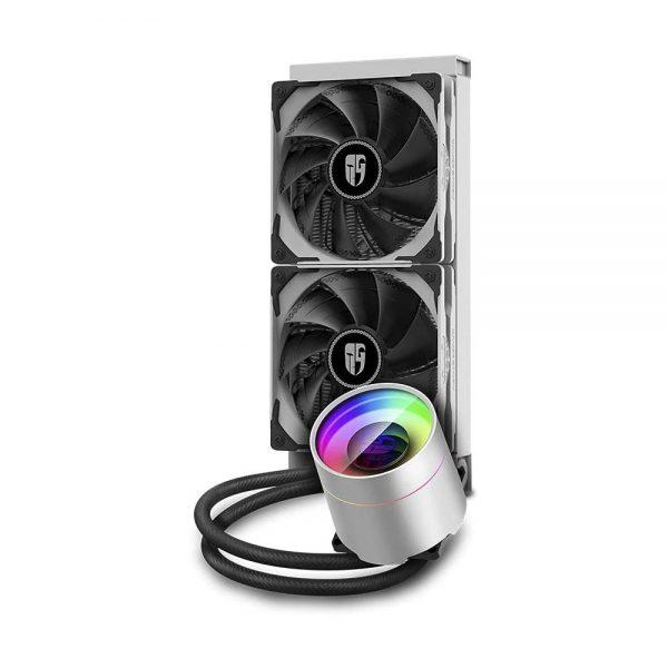 система водяного охлаждения для процессора deepcool castle 240ex wh 2