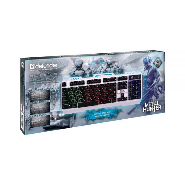 игровая клавиатура defender metal hunter gk-140 2